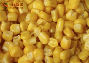 China Safety Frozen Sweet Corn Kernels Organic Fruit With 8 - 13% Sweetness on sale