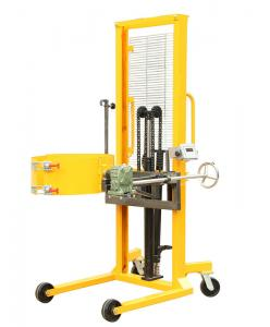 China Simple and labor-saving forklift drum lifter , fast lifting speed vertical drum lifter on sale
