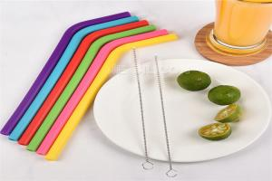 China Non - Toxic Reusable Food Grade Silicone Straw Bar Accessories 100% Bpa Free on sale