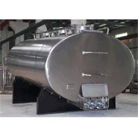 China Big Horizontal Stainless Steel Tanks , Cooling Bulk Liquid Pasteurized Milk Tank 1000L - 30000L on sale