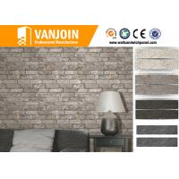 Unique Retro Style Flexible Wall Tiles , Ecological Split Brick Tile Flame Retardant