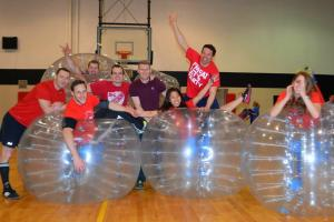 China Human Sized Inflatable Bubble Soccer Ball / Hamster Ball Transparent Durable on sale