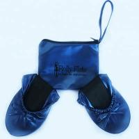China Stock and Discount Best Price Wholesale Navy Blue Roll Up Driving Shoes with OEM Printing Logo in a Bag on sale