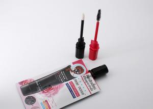 China Cosmetic Paste Small Liquid Spout Bags With Lash Curler Brush Gravure Printing on sale
