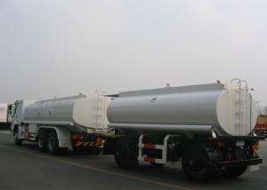China 18000L Carbon Steel Drawbar Liquid Tank Truck , 2 Axles Diesel Fuel Delivery Trucks on sale