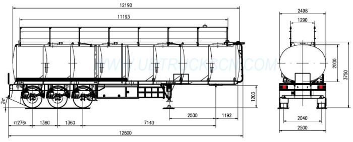 Fuel/oil transport tanker trailer for sale – Fuel tank ...