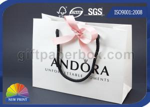 China Logo Embossing Custom Printed Paper Gift Bag with Ribbon Closure for Luxury Gift on sale