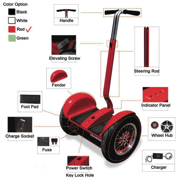 Hot Selling China Segway Style E Bike Scooter For Adult Kids With