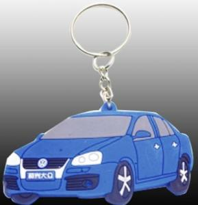 China custom silicone rubber soft PVC keychain auto with colorful for promotional gift on sale