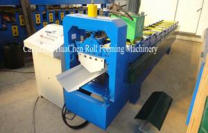China 380V Industrial Ridge Cap Roll Form Equipment PLC Control Cutting Method on sale