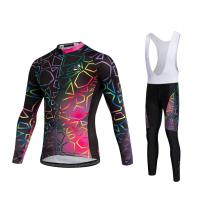 Wholesale Custom Breathable Sublimation women cycling jersey sets with bibs