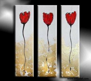 China Best Price For 100% Hand-painted Flower Decoration Group Oil Painting On Canvas on sale