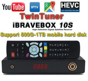 China iBRAVEBOX F10S+1year iptv 1080p H.265 receiver Ultra IPTV box Satellite Receiver two dvb s2 tuner 1 year iptv codes insi on sale