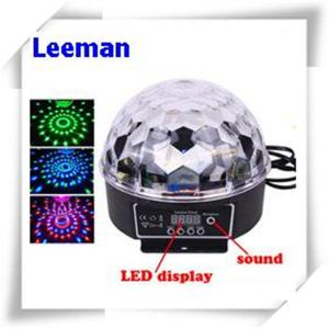 China Digital Rgb LED Magic Ball Light 6W / Professional Stage Lighting Equipment 4500lm on sale