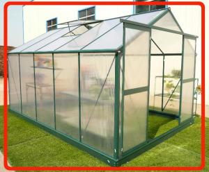 China 8X8FT aluminum greenhouse with powder coated frame on sale