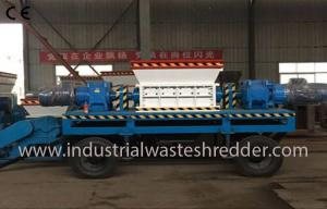 China Two Shaft Industrial Waste Shredder Machine Custom Capacity For Waste Wood Pallet on sale