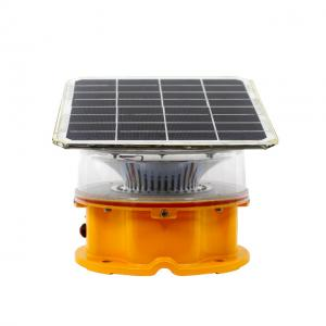 China ICAO Flash Red solar-powered tower aviation warning obstruction lights ip65 2000cd medium intensity solar airport light on sale