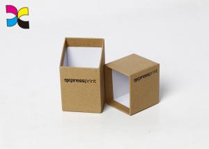 China Quick Custom Printed Paper Boxes Two Pieces Hardcover Kraft Color Carboard on sale