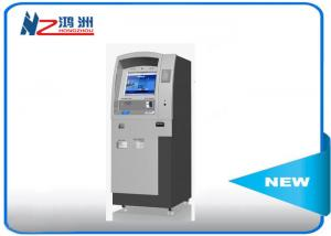 China Custom hotel self check in kiosk LED touch screen 500cd/m2 Brightness on sale