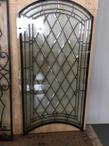 Decorative Bevel Glass For Wooden Doors With Glue Chip Glass
