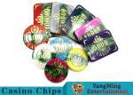 Beautiful Pattern Luxury Casino Poker Chip Set With Embedded Iron Plates