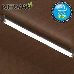 China 28W 40W 52W Contemporary IP65 Waterproof LED Tube Lights Surface Mount Linear LED Ceiling Light Fixtures 3000K 4000K on sale