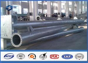 China Round Hot dip Galvanized Steel Tubular Pole ASTM A123 Standard flange mode on sale