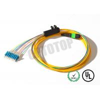 China OEM MPO Fiber Optic Patch Cord Female To LC / UPC With 8 Core , REACH Standard on sale