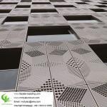 gold color  Metal aluminium facade cladding for facade exterior cladding