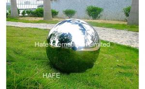 China 1.5M Durable Giant Inflatable Mirror Ball , Silver Reflective Balloons For Party Wedding on sale