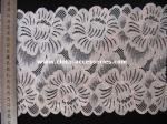 10 polegadas V - guarnição floral da tela do laçodo jacquard do decote com malha do Spandex