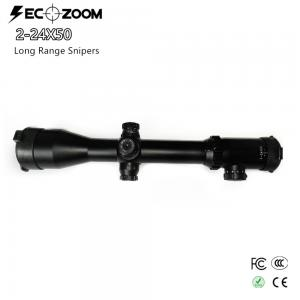 China SECOZOOM Tactical Long Range Scopes Mil Dot High Light Transmission SFP 2-24x50 Rifle Scope on sale