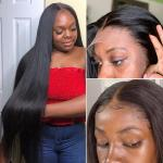 Natural Hairline 100 Percent Human Hair Lace Front Wig With Baby Hair No Tangle