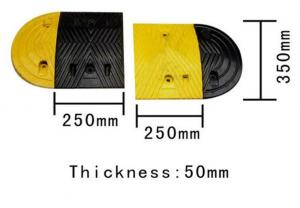 China 250 mm trapezia rubber speed hump on sale