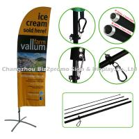 Corrosion Resistance Flying Beach Banner Flags Teardrop Flag Banners For Advertising