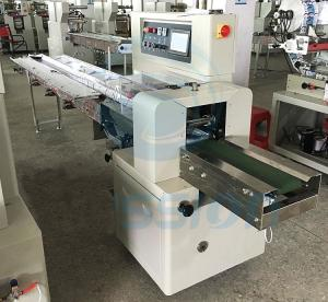 China Egg Roll Biscuit Wrapping Machine , Horizontal Automatic Biscuit Packing Machine on sale