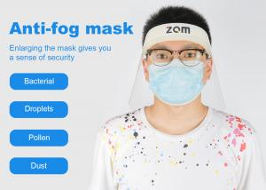 China Plastic PET Production Face Mask Shield , FDA Approved Transparent Face Shield Safety on sale