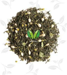 China Flavour flower fruit mix tea jasmine organic tea with a base of green tea on sale