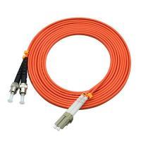 850 Wavelength Optical Fiber Patch Cord 3 Ft LC To ST Duplex 62.5 / 125um OM2