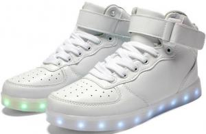 China App Simulation Rainbow Color Changing Light Up USB Rechargeable Led Sneakers on sale