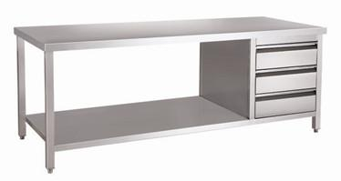 Shelves Stainless Steel Work Table With Drawers Stainless Steel - Stainless steel work table with shelves