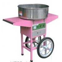Four wheels moving commercial cotton candy machine With Cart