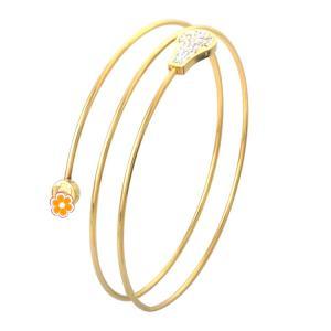 China coil Gold Bracelet, Newest Fashion Jewelry Tricyclic Bracelets Women Charm Stainless Steel Bangle on sale