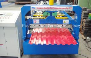 China High Speed 3 Phases Shutter Door Roll Forming Machine With 18 Rows on sale