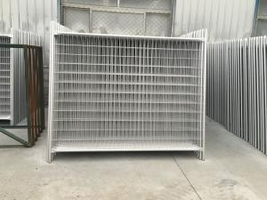 Quality Standard Temporary Fence Panels 2100mm  x 2400mm OD 32mm x 2.0mm thick pipes Infilled mesh:60mm x 150mm x 4.00mm dia for sale