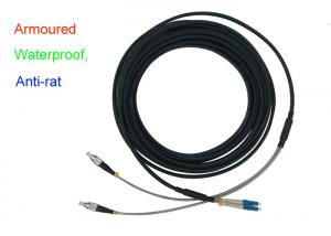 China Waterproof Armoured Duplex Fiber Optical Indoor 5.0 Patch Cord Anti-rat DX LC FC on sale