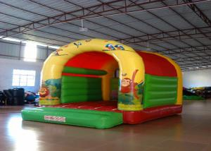 China Forest animals theme inflatable bouncers /  inflatable bouncer with roof on sale