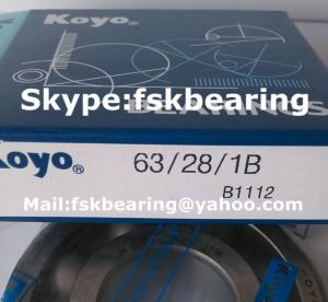 China Automobile Gearbox  63/28 Single Row ABEC 7 Bearings Steel Balls supplier