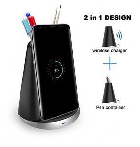 China Two In One Multifunctional Wireless Power Charger with Pencil Container on sale