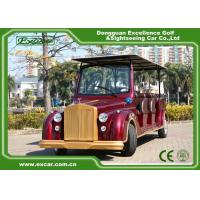 China Excar Red Electric Classic Cars With Trojan Battery ,CE Approved on sale